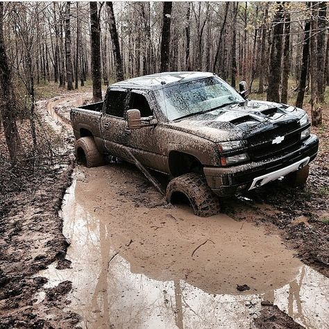 Dirty chevy truck