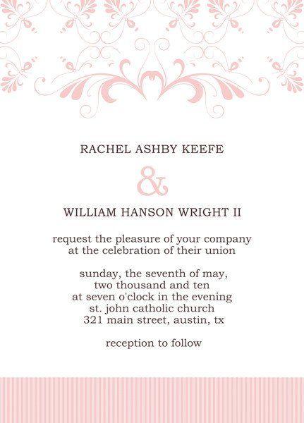 Microsoft Office Wedding Invitation Template Lovely Invitation Wedding Invitation Card Template Wedding Invitation Templates Blank Wedding Invitation Templates
