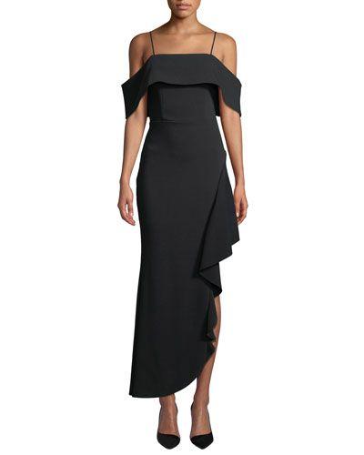 TXS3K Elliatt Ellen Off the Shoulder Asymmetric Dress