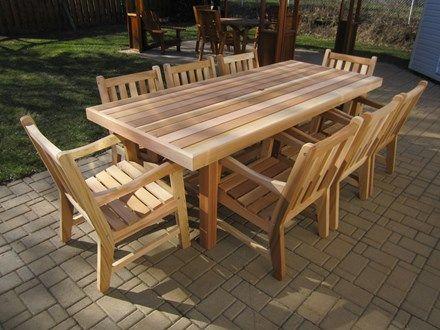 Ensemble Table Rectangulaire De 40 X 84 Avec 8 Fauteuils Waterfront Dining Outdoor Decor Outdoor Tables