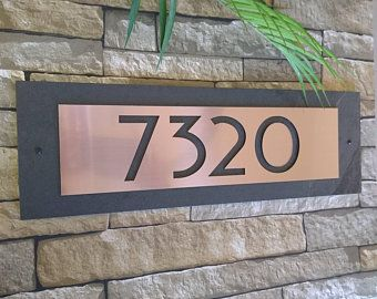 Modern Craftsman House Numbers Vertical Dragonfly Home Address Plaque In 2020 House Numbers Craftsman House Numbers Address Plaque