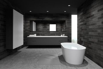 Comfortable Dark Tile Bathroom With Wardrobe Ad Dark Comfortable Tile Wardrobe Bathroom Ad Tile Bathroom Dark Tile Bathroom Dark Tile