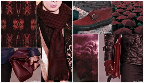 Top Accessories Color, Mens Market, F/W 2015-16, Burgundy