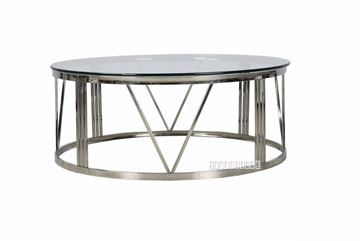 Show Details For Galaxy Round Coffee Table Clear Glass