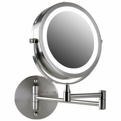 Ovente Ovente Wall Mount Led Lighted Makeup Mirror Battery