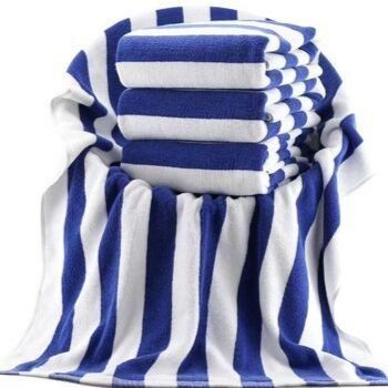 Blue And White Plush Bath Towel Plush Bath Towel Bath Towels