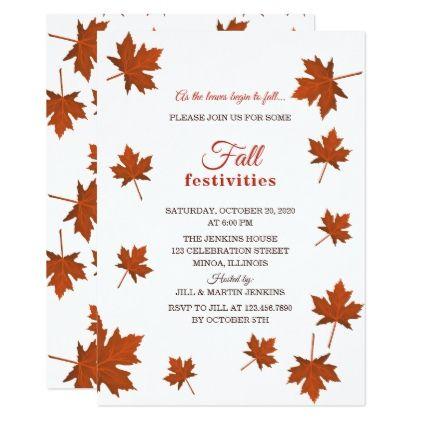 Fall Festivities Party Invitation Thanksgiving Invitations Holiday Cyo Diy Happy Thanksgiving Invitation Card Party Invitations Invitations Leaf Invitations