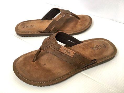 6cfbb21707015b Flojos Alonzo Men s size 11 Beach Summer Flip Flops Sandals Brown Shoes   Flojos  FlipFlops