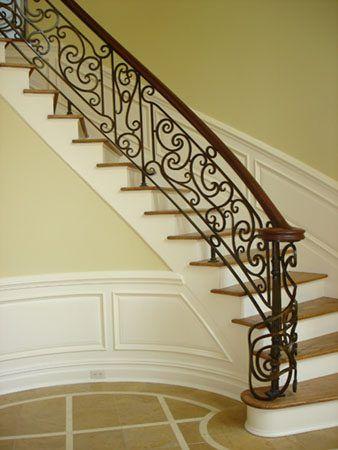 صور درابزين درج للفلل والدوبليكس بأحدث الاشكال ميكساتك Brick Patios Home Decor Stairs