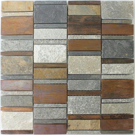 Kupfer Naturstein Mosaik Fliesen Mix Natursteine Fliesen Steine