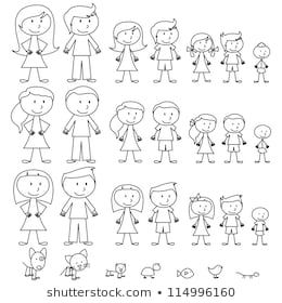 35+ Family Members Clipart Black And White