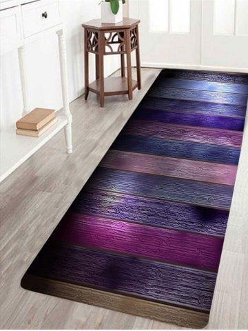 Incredible Colorful Wood Grain Printed Antiskid Area Rug Bathroom Beutiful Home Inspiration Semekurdistantinfo