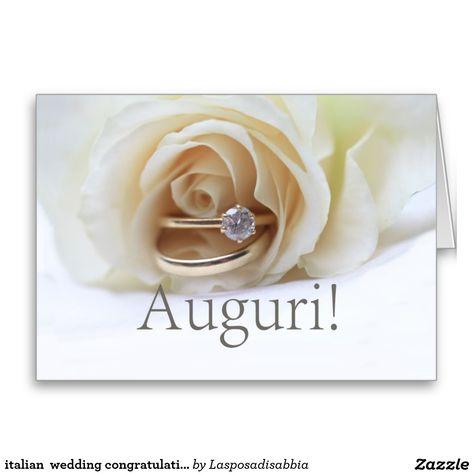 Italian Wedding Congratulations Card Wedding Congratulations