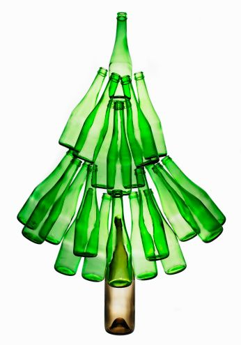 Eco Friendly Christmas Tree made in used bottles. More cheaper accurate for  price conscious consumers | Green Shopping | Pinterest | Christmas tree and  Real ...
