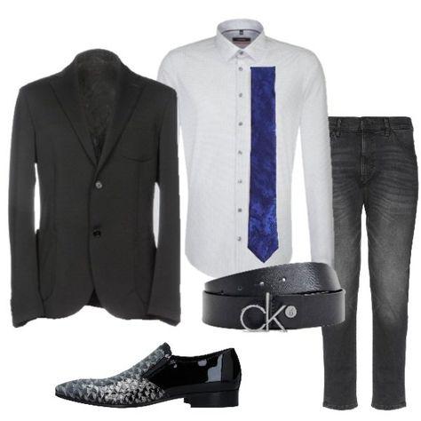 31ab318b8d Per la tua serata importante, giacca nera Guess By Marciano, camicia ...