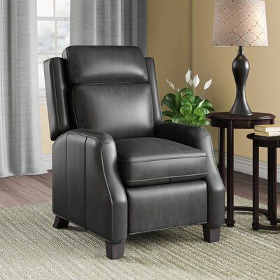 Canora Grey Rodrick Genuine Leather Manual Recliner Wayfair In 2020 Recliner Canora Grey Seating