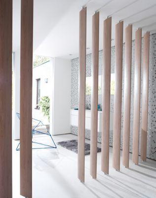Lot 3 1 Lames Orientables Ella Bois Naturel Cloison Modulable Claustra Bois Interieur Renovation Appartement