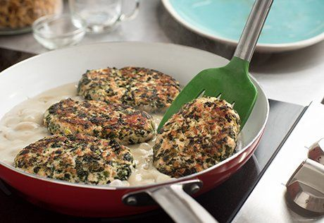Turkey Spinach Salisbury Steaks Recipe Salisbury Steak Campbells Recipes Salisbury Steak Recipes