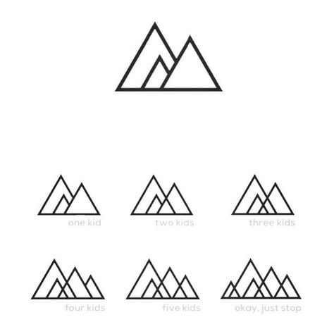 Best Tiny Tattoo Idea - A progressive mountain range. so cool. represent your family with mountains. You...