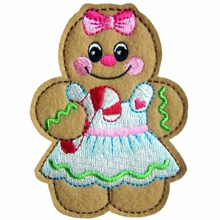Free Christmas Embroidery Designs   gingerbread3 christmas gingerbread machine embroidery design design is ...