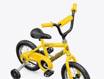 Download Download Children Bike Mockup Psd Half Side View Kids Bike Mockup Psd Mockup