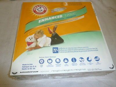 Air Filters 43509 Arm And Hammer 12 X 12 X 1 Enhanced 12000 Allergen Furnace Filter 4 Pack Buy It Now Only 21 95 On Ebay With Images Air Filter Furnace Filters