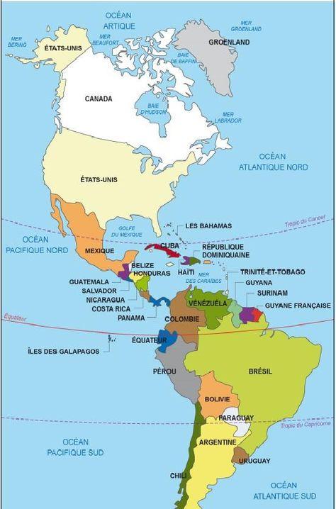Quels Sont Les Continents Du Monde Carte Amerique Les