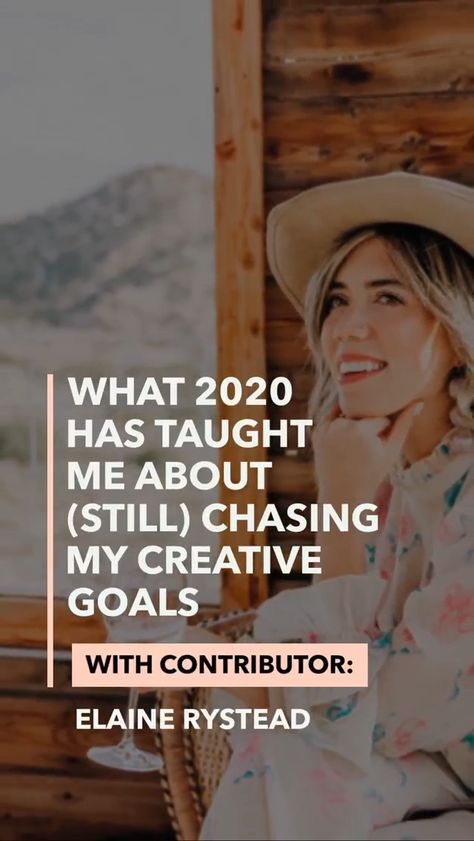 Chasing Your Creative Goals