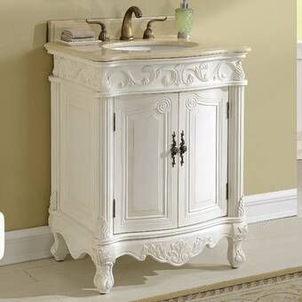 Ambudkar 27 Single Bathroom Vanity Bathroom Vanity Shabby Chic