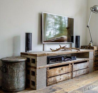 Resultat De Recherche D Images Pour Meuble Parpaing Diy Furniture Nightstand Diy Furniture Tv Stand Tv Furniture