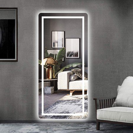 Led Mirror Full Length Mirror Wall Mounted Mirror With Lights Dressing Mirror For Bathroom Bedroom Living Room Dimmer Touch Switch Waterproof 47 X 22 Walmar Living Room Mirrors Dressing Mirror Designs Dressing