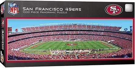 San Francisco 49ers 1000 Piece Panoramic Puzzle San Francisco 49ers Stadium San Francisco 49ers Nfl San Francisco
