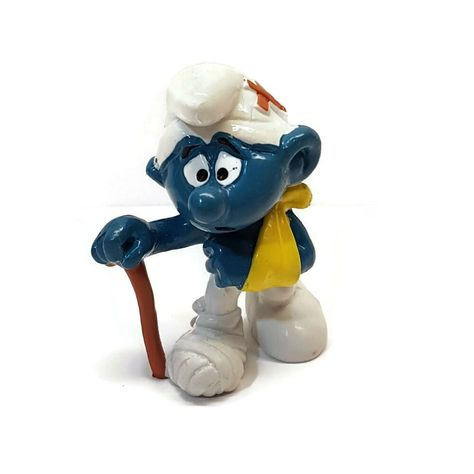 W.Germany Bully//Smurf jardinier bêche petite taille figurine SCHTROUMPF 244B