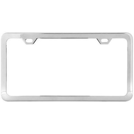 Grand General Black Semi Gloss Powder Coated License Plate Frame With 2 Holes Silver License Plate Frames License Plate