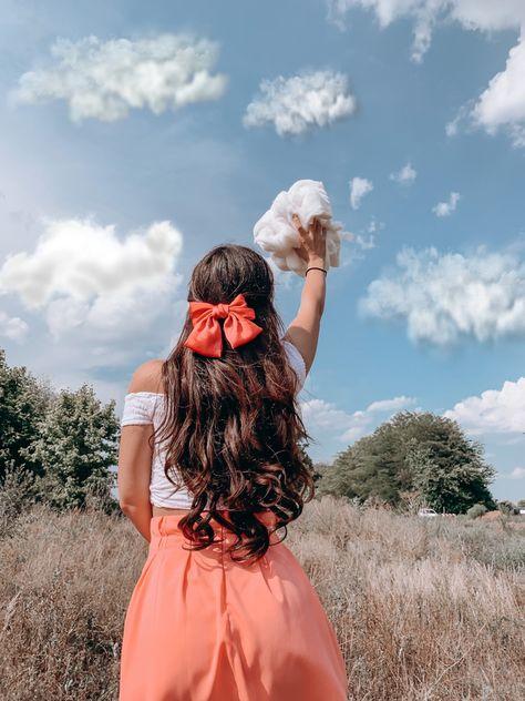 Creative, outdoorphotography, summer, travel, hairbow, longhair, brownhair