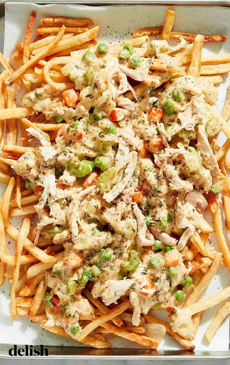 This is the perfect hack for frozen French fries and shredded rotisserie chicken.