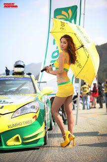 Hwang Mi Hee In Fila Race Car Show Korean Racing Girls