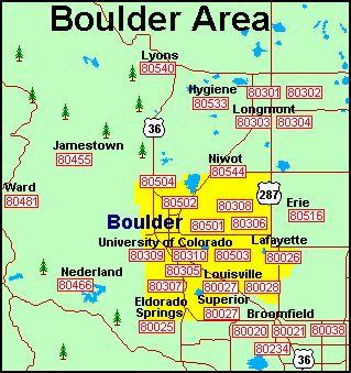 Boulder Zip Code Map | Zip Code MAP