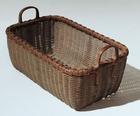 Antique Small Basket In Sage Paint from Don Olson Antiques