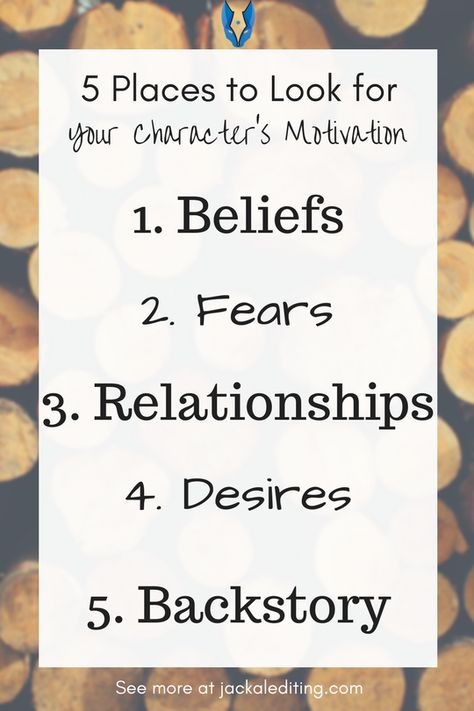5 Places to Look for your Character's Motivation
