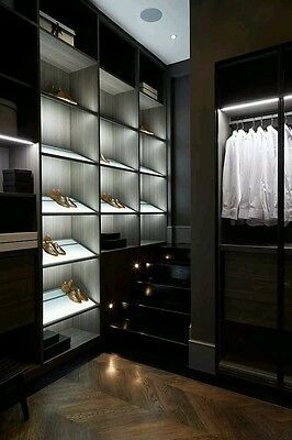 Details About No Heat In This Led Closet Wardrobe Light Kit Walk In Closet Organizer Led In 2020 Closet Lighting Closet Designs Wardrobe Design