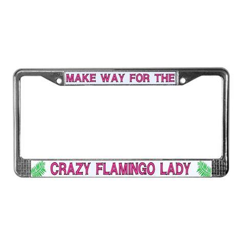 PINK FLAMINGO BIRD Metal Chrome License Plate Frame New