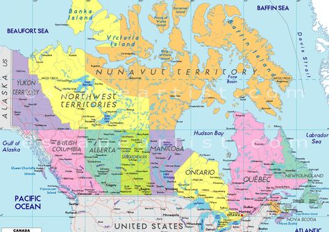 Map Of Canada And Surrounding Countries.Map Of Canada With All Cities And Towns Google Search Canada In