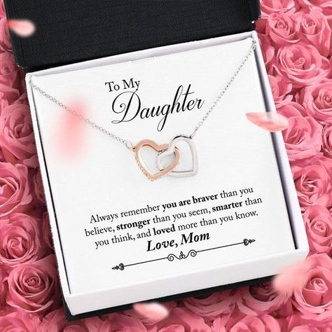 The bond between mother and daughter is beautifully special. This gorgeous gift set celebrates that bond with a unique interlocked hearts design necklace and heartfelt message. Choose to upgrade to have this gift shipped in a luxury mahogany wood keepsake jewelry box with white velour interior with LED Light. Perfect for storing this and all of you other favorite Aphrodite's pieces. We Pay Shipping & Handling! Specifications: Item Type: Joined Hearts Pendant Necklace Chain Length: 16 inches