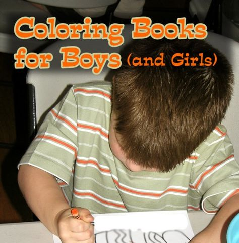 Boys favorite themes and topics for coloring, coloring books for boys (and girls).