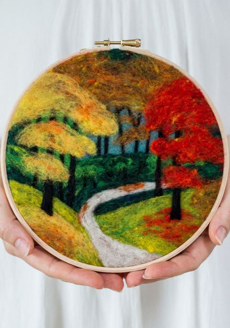 Get ready leaf peepers. You can now create your very own fall foliage scene with a DIY needle felting kit.
