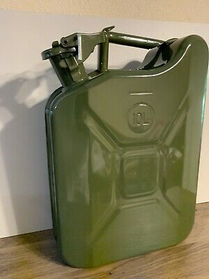 New Green Nato 2 5 Gallon Jerry Can 10l Army Military Fuel Steel Tank Ebay In 2020 Jerry Can New Green Steel