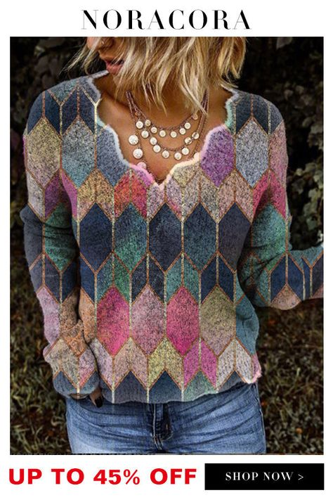 Retro Sweatshirts, Casual Sweaters, Casual Tops, Sweaters For Women, Long Sleeve Sweater, Long Sleeve Shirts, Fashion Mode, Womens Fashion