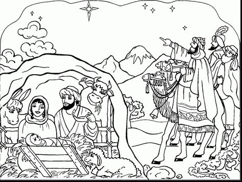 good printable nativity coloring pages for kids with christmas coloring pages for adults and