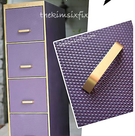 Filing Cabinet Makeover Using Plastic Fluorsecent Light Diffusers